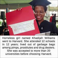 homeless to harvard essay homeless girl d khadijah williams went  homeless girl d khadijah williams went to harvard merih news com homeless girl d khadijah williams beloved essay