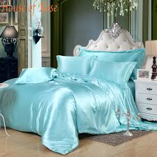 luxury pink chinese silk satin euro design bedding sets 16 solid