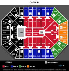 Target Center Minneapolis Mn Seating Chart Cardi B Target Center