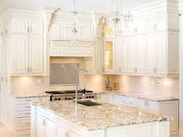 White Kitchen Granite Countertops White Kitchen Cabinets With Delicatus Granite Countertops Home