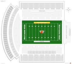 K State Football Stadium Seating Chart M M Roberts Stadium Southern Miss Seating Guide