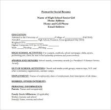 High School Resume Template  9+ Free Word, Excel, Pdf Format inside Include