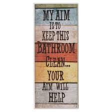 my aim is to keep this bathroom clean textual art plaque reviews joss main