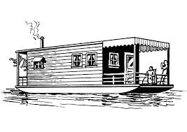 Small Picture Coloring page houseboat img 13705