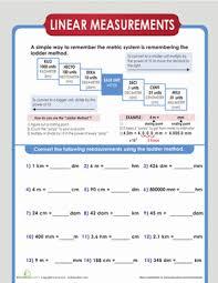 Metric Ladder Method Worksheet Education Com