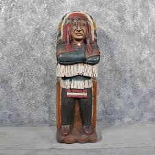carved wooden indian 11623 for the taxidermy