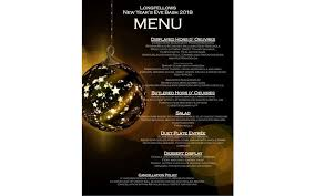 New Year Menu Longfellows 7th Annual New Years Eve Bash Monday Dec 31