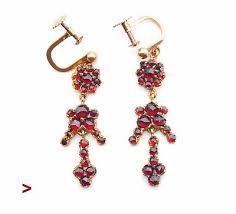 1920s antique victorian bohemian garnet earrings 3 5gr