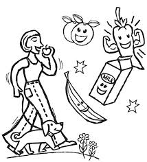 Small Picture Coloring Pages About Health Coloring Pages