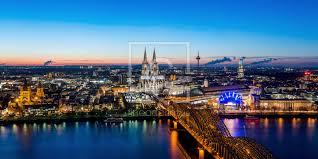 Köln Skyline Panorama Perfectly Printed As Window Foi