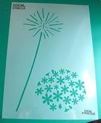 flower wall stencils