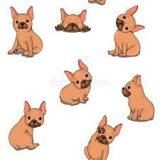 cute bulldog clipart. Simple Bulldog Seamless Pattern With Cute Bulldog Clipart Adorable Stock Throughout Cute Clipart