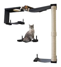 wall mounted cat furniture. CatastrophiCreations Sky Track Hammock Climbing Activity Handcrafted Wall-Mounted Cat Tree - B06XKVW6MW Wall Mounted Furniture