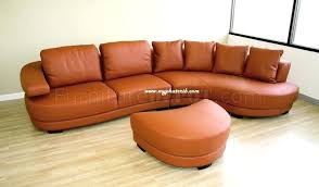 orange leather couch burnt orange leather sectional sofa