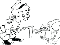 Wolf Coloring Page Delighted Peter And The Wolf Coloring Page Pages