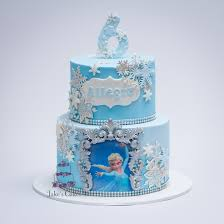 Allegras Frozen Cake Design Based On A Picture Provided By The