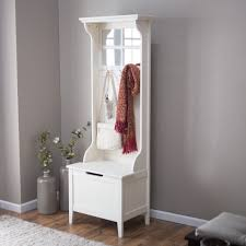 Corner Coat Rack With Bench Tall White Corner Coat Rack With Mirror And Storage Bench of 17