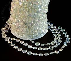 24 yds acrylic 0 5 octagon beads strand nat