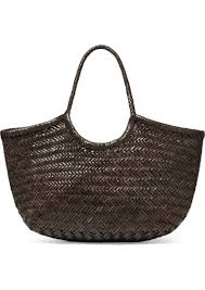 dragon nantucket large woven leather tote