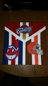 hand painted canvas for a cleveland sport lover cleveland browns cavaliers and indians gift ideas diy modge podge my very own diy board  on cleveland sports teams wall art with hand painted canvas for a cleveland sport lover cleveland browns