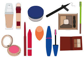 makeup items all these ilrations are done in adobe ilrator i started off ilrating in photo then learnt ilrator and realised