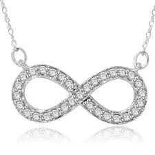 infinity necklace white gold. 14k white gold 1/ 3ct tdw diamond infinity necklace n