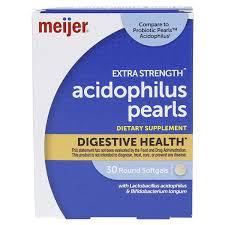 Meijer <b>Probiotic Pearls Acidophilus</b> Extra Strength Softgels, 30 ct ...