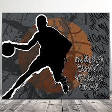 basketball graffiti wall art sports