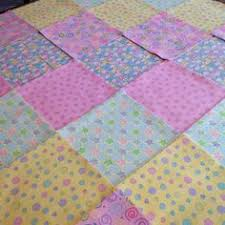 Baby Rag quilt kit 75 squares, 3 layers of flannel 8  each, pre ... & Baby Pink yellow Rag quilt kit 75 squares, 3 layers of flannel 8