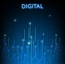 Digital Circuit Background Dark Blue Decor Free Vector In Adobe