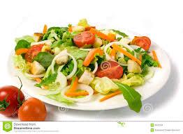 fresh garden salad. Perfect Fresh Fresh Garden Salad On A Plate Isolated Intended Garden Salad L