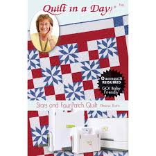 Quilt in a Day Stars and Four-Patch Eleanor Burns | AccuQuilt.com & Mix & Match Quilt Blocks Pattern Ideas ... Adamdwight.com