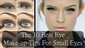larger and bigger eyes capture more attention of the people and help you not p userved applying makeup to small