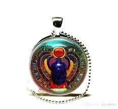 scarab necklace beetle pendant golden