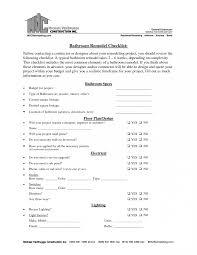 bathroom remodel checklist. Bathroom Remodel Engaging Kitchen Checklist Template Remodeling Home O