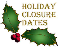 Image result for image of christmas holiday closure