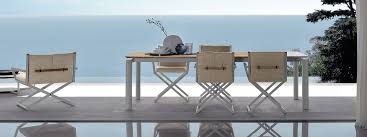 outdoor director chair. Talenti DOMINO Contemporary Outdoor Dining Furniture | Luxury Director Chair High Quality Garden