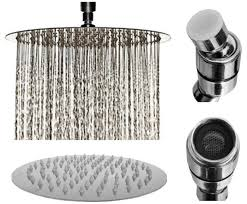 8 inch chrome rainfall high pressure shower head