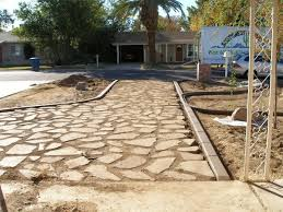 reuse and lay broken concrete pieces