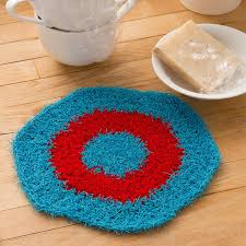 Red Heart Scrubby Yarn Patterns Magnificent Hexagon Crochet Dishcloth Red Heart