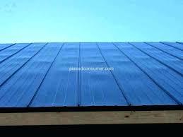 corrugated plastic roofing roof panels installation uk