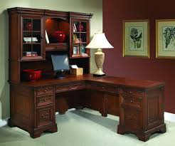 classic home office furniture. cherry wood office furniture l shaped computer desk and return classic home