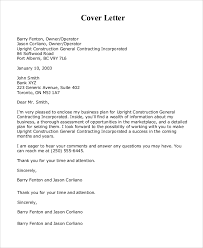 business plan cover letter sample example of business cover letter
