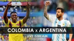 Argentina vs Colombia Live   World Cup Qualifier   Paraguay vs Brazil