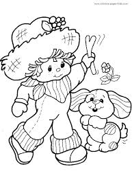 strawberry shortcake coloring book color page cartoon characters pages jumbo colorin