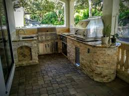 Granite For Outdoor Kitchen Gorgeous New Outdoor Kitchen With Granite Creative Outdoor Kitchens