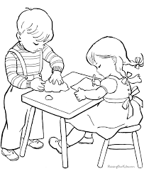 Small Picture School coloring sheets and pictures
