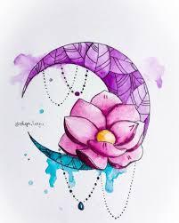 лотос луна мои эскизы татуировок татуировка луна милые тату и