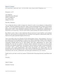 Sample Resume Cover Letter Administrativent Fresh Letters Samples