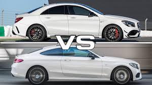 2017 Mercedes CLA AMG vs 2017 Mercedes C43 AMG - YouTube